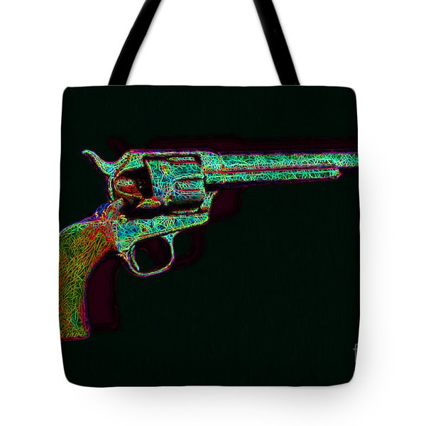 Old Western Pistol - 20130121 - V1 Tote Bag by Wingsdomain Art and Photography