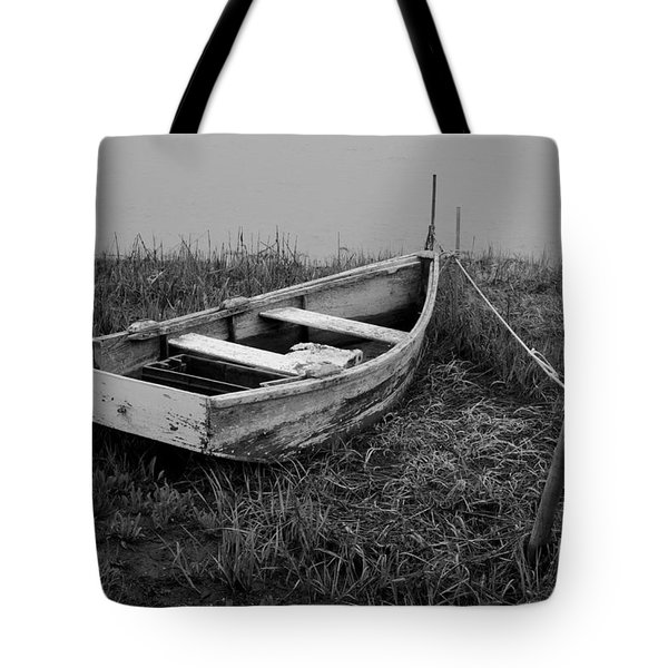 Old Wooden Rowboat II Tote Bag by Dave Gordon