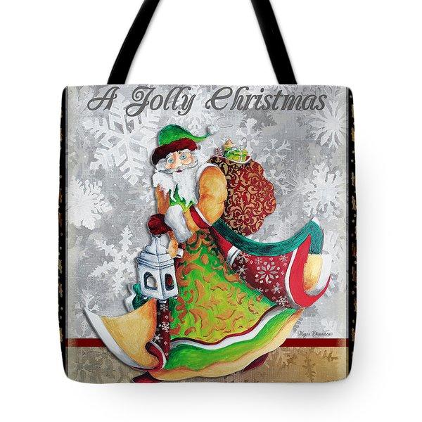 Old World Santa Clause Christmas Art Original Painting By Megan Duncanson Tote Bag by Megan Duncanson