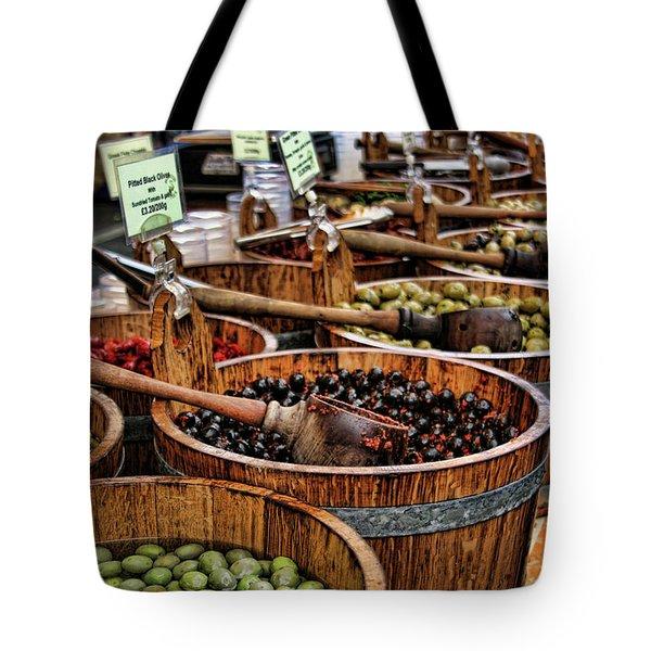 Olives Tote Bag by Heather Applegate