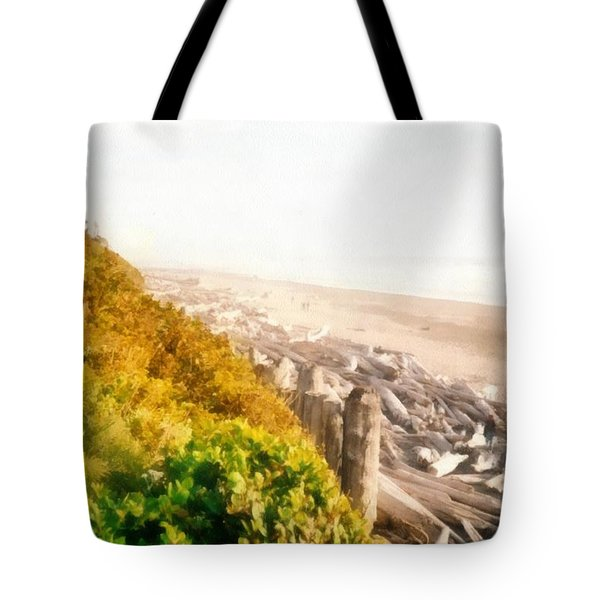 Olympic Peninsula Driftwood Tote Bag by Michelle Calkins