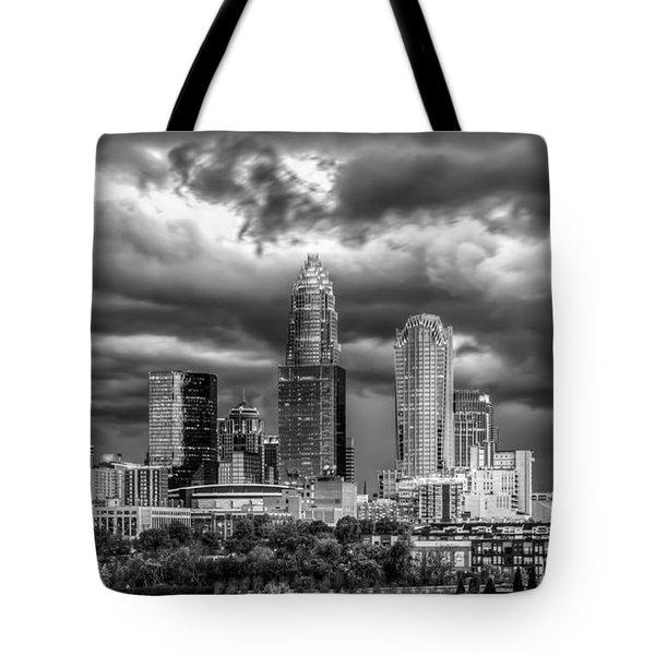 Ominous Charlotte Sky Tote Bag by Chris Austin