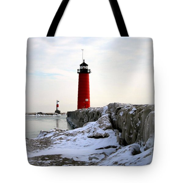 On A Cold Winter's Morning Tote Bag by Kay Novy