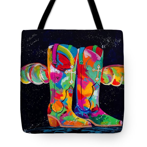 On A Prayer And A Wing Tote Bag by Tracy Miller