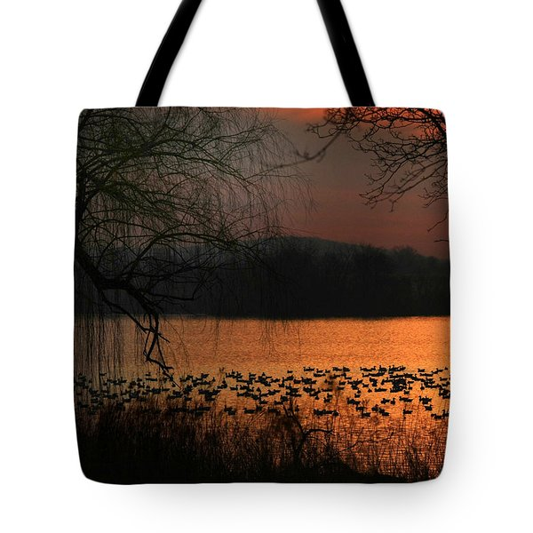 On Golden Pond Tote Bag by Lori Deiter