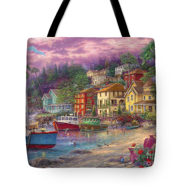 On Golden Shores Tote Bag by Chuck Pinson