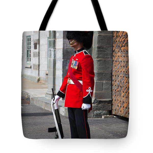 On Guard Quebec City Tote Bag by Edward Fielding