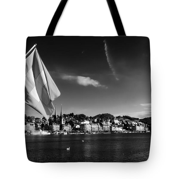 On Lake Lucerne Tote Bag by Mountain Dreams
