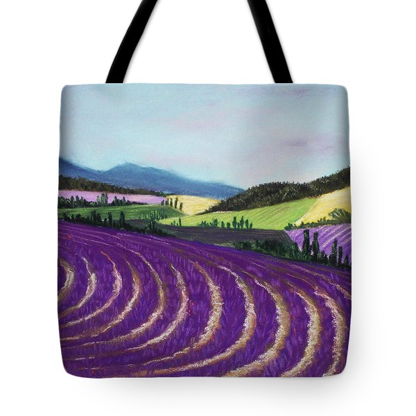 On Lavender Trail Tote Bag by Anastasiya Malakhova