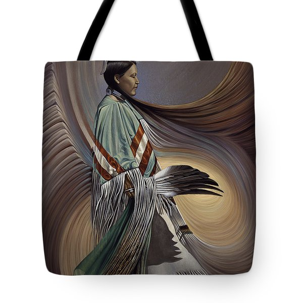 On Sacred Ground Series I Tote Bag by Ricardo Chavez-Mendez
