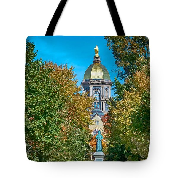On The Campus Of The University Of Notre Dame Tote Bag by Mountain Dreams