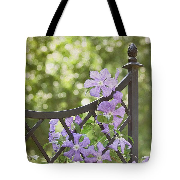 On The Fence Tote Bag by Kim Hojnacki