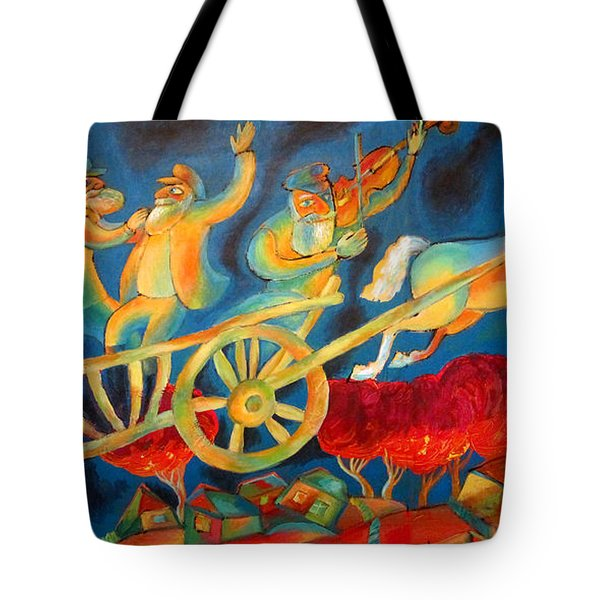 On The Road To Rebbe Tote Bag by Leon Zernitsky