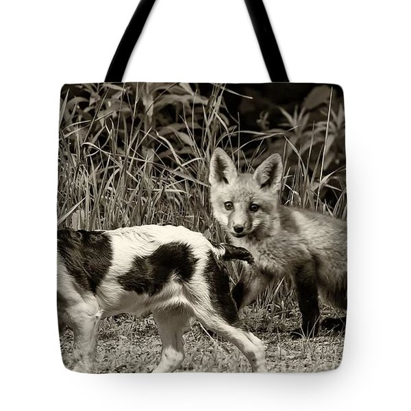 On the Scent sepia Tote Bag by Steve Harrington