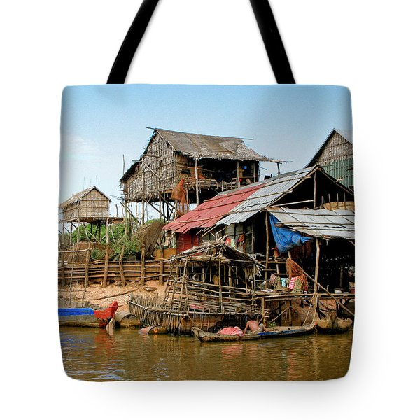 On the Shores of Tonle Sap Tote Bag by Douglas J Fisher