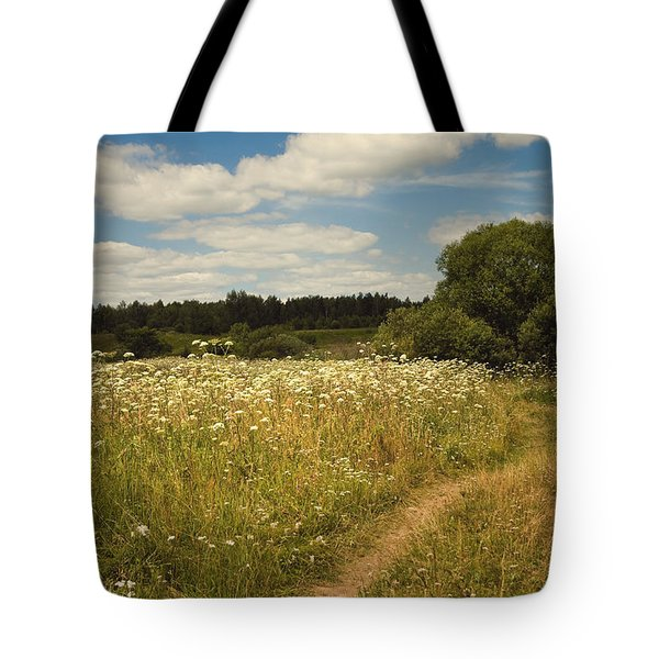 On The Summer Meadow II. Russia Tote Bag by Jenny Rainbow