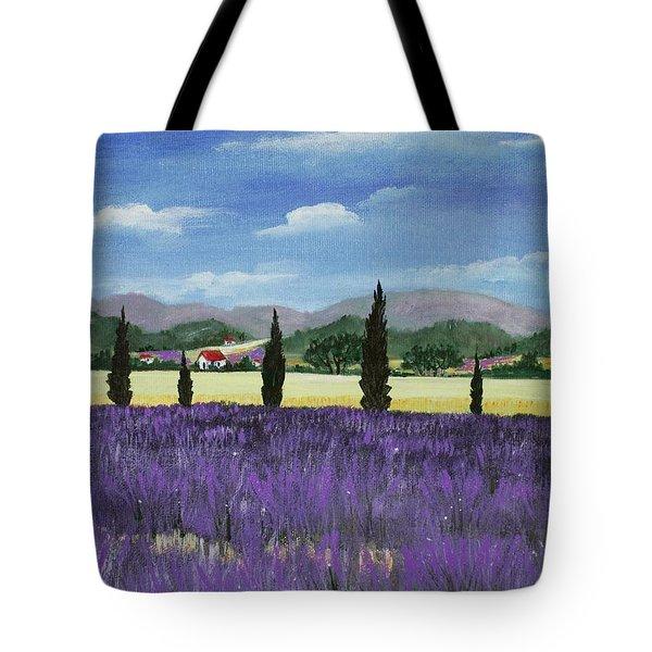 On The Way To Roussillon Tote Bag by Anastasiya Malakhova