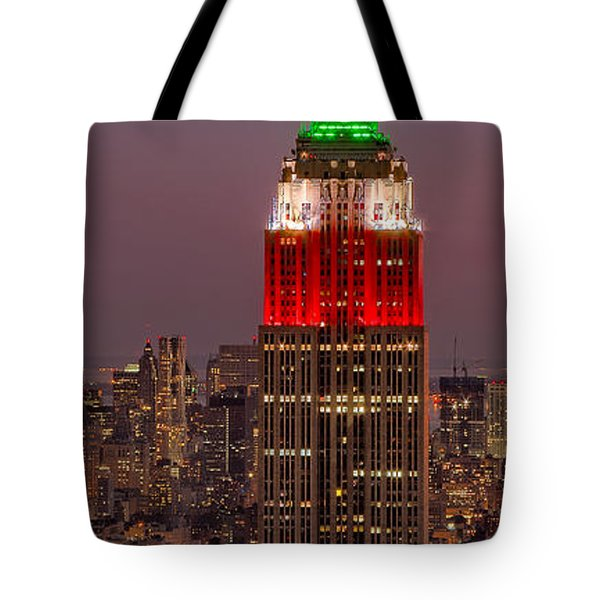 On Top Of The Rock Tote Bag by Susan Candelario