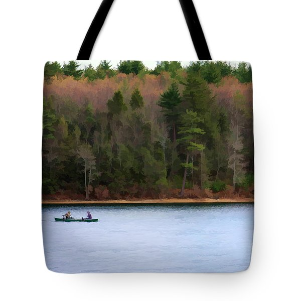 On Walden Pond Tote Bag by Jayne Carney