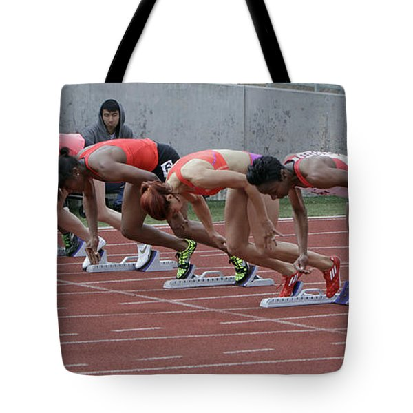 On Your Marks Tote Bag by Shoal Hollingsworth