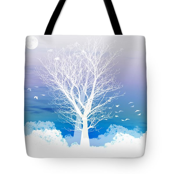 Once upon a moon lit night... Tote Bag by Holly Kempe
