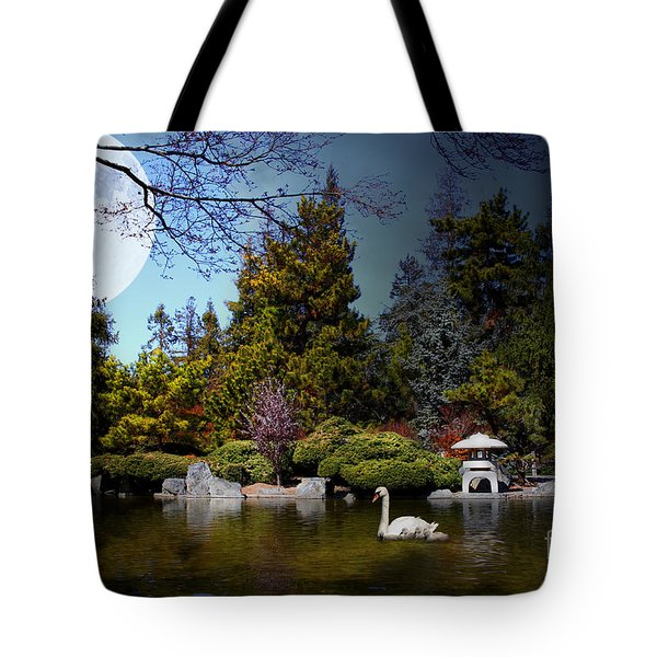 Once Upon A Time Under The Moon Lit Night . 7d12782 Tote Bag by Wingsdomain Art and Photography