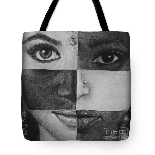 One And The Same 2 Tote Bag by Malinda  Prudhomme