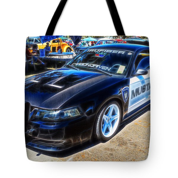 One Bad Ass Squad Car Tote Bag by Tommy Anderson