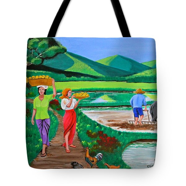 One Beautiful Morning in the Farm Tote Bag by Cyril Maza