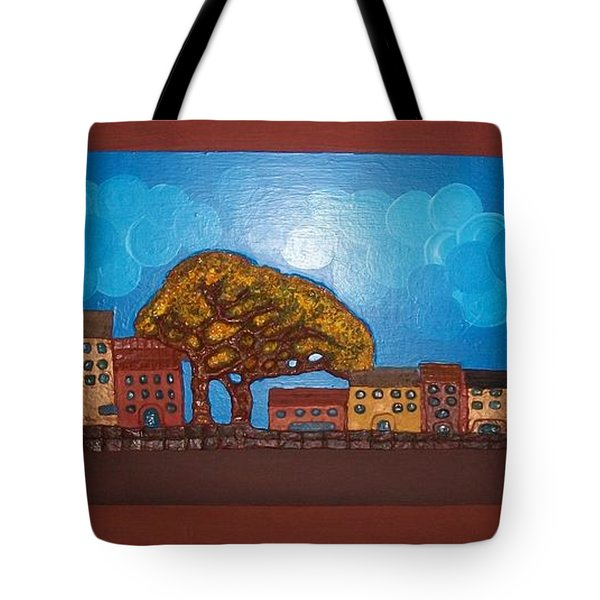One Cloudy Day Tote Bag by Otil Rotcod
