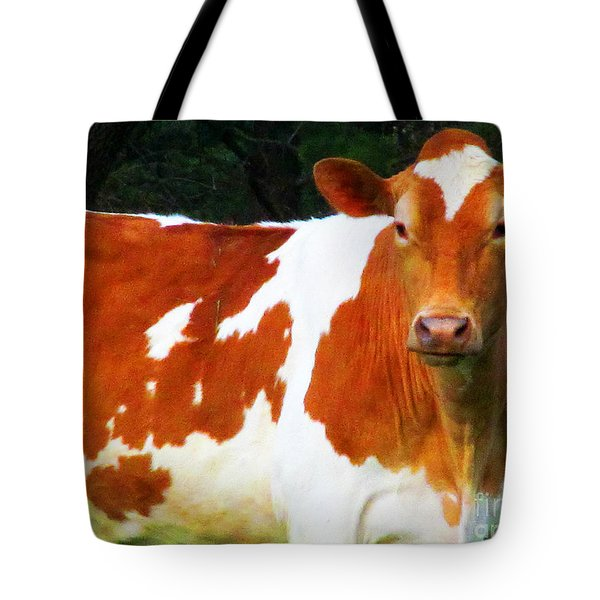 One Lovely Guernsey Tote Bag by Tina M Wenger