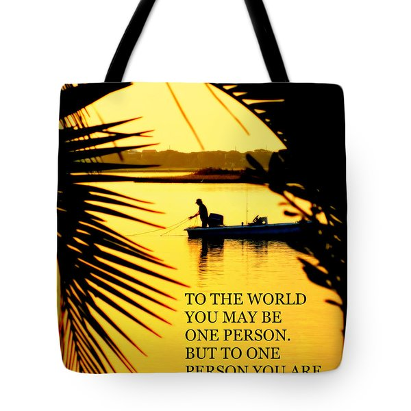 One Person Tote Bag by Karen Wiles