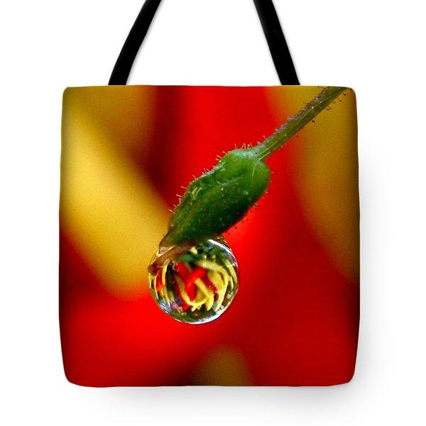 One Raindrop Tote Bag by Rona Black