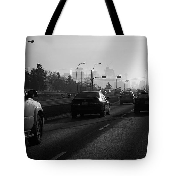 One Smoggy Morning Tote Bag by Trever Miller