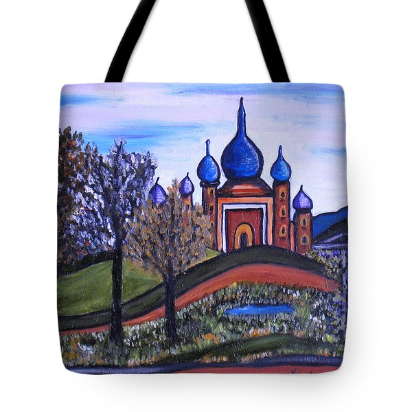 Onion Scape Tote Bag by Kerry Bennett