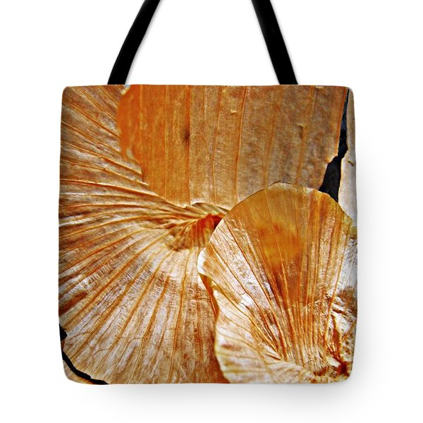 Onion Skin Abstract Tote Bag by Sarah Loft