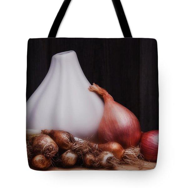 Onions Tote Bag by Tom Mc Nemar