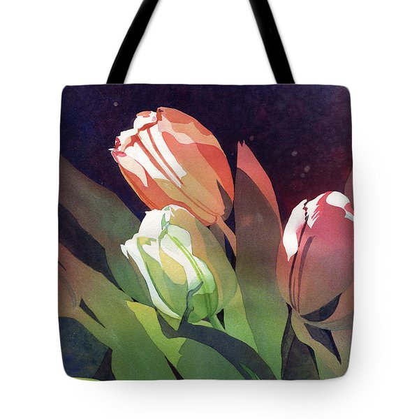 Only Three Tulips Tote Bag by Kris Parins