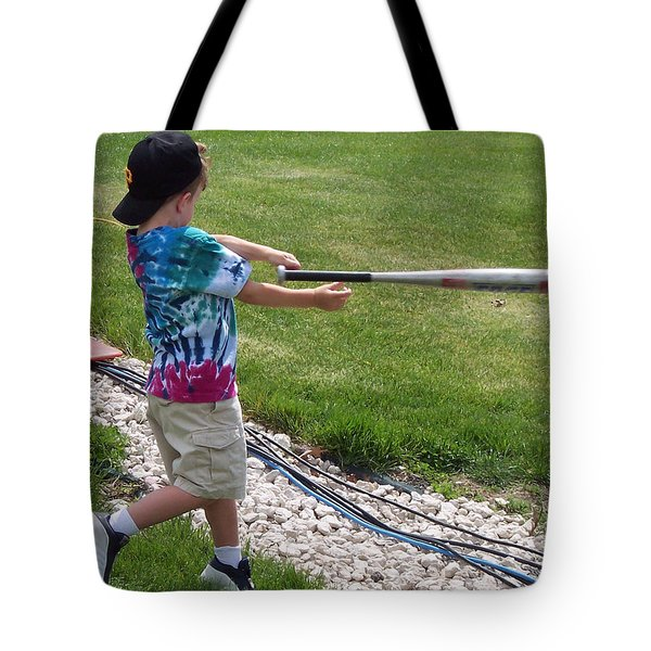 Oopsy-daisy Slippery Bat Tote Bag by Thomas Woolworth