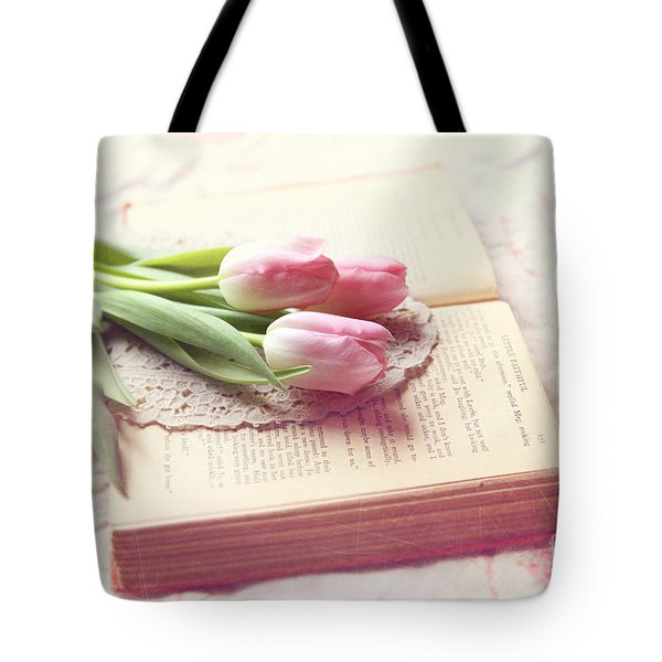 Open Book Tote Bag by Sylvia Cook