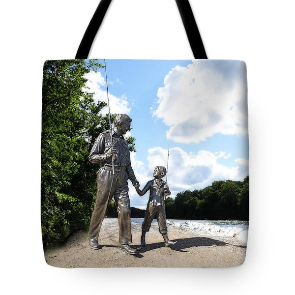 Opie and Andy Go Fishin Tote Bag by David Arment