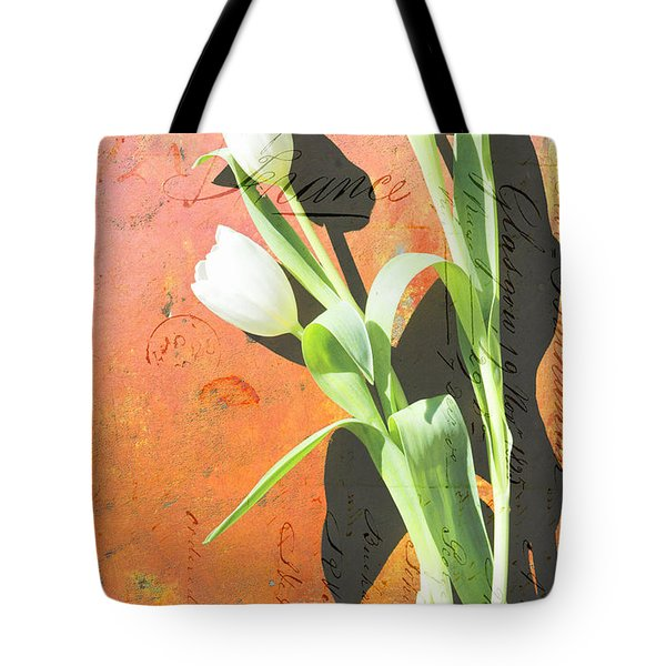 Orange Abstract Tulips Tote Bag by Anahi DeCanio