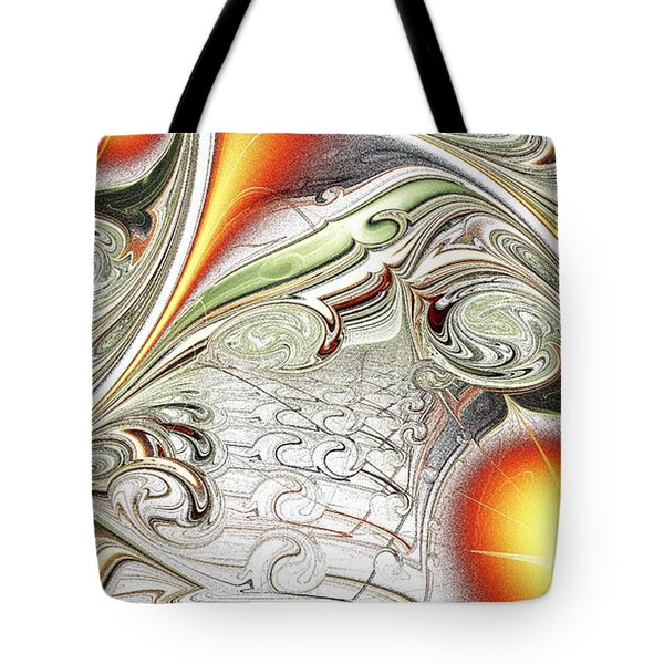 Orange Accent Tote Bag by Anastasiya Malakhova