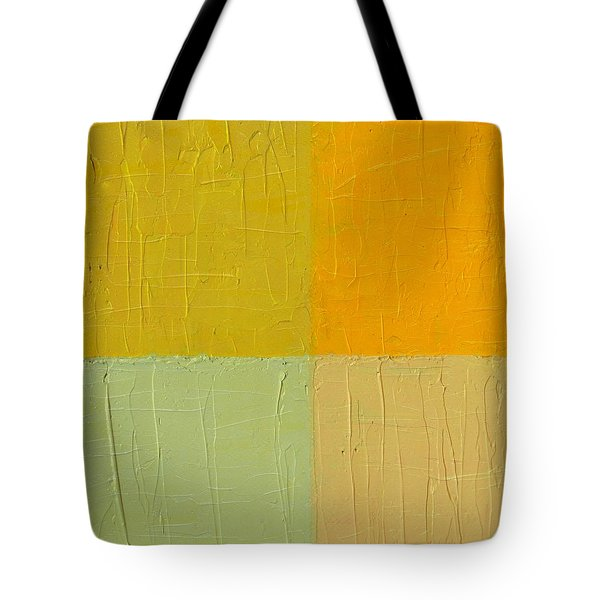 Orange And Mint Tote Bag by Michelle Calkins