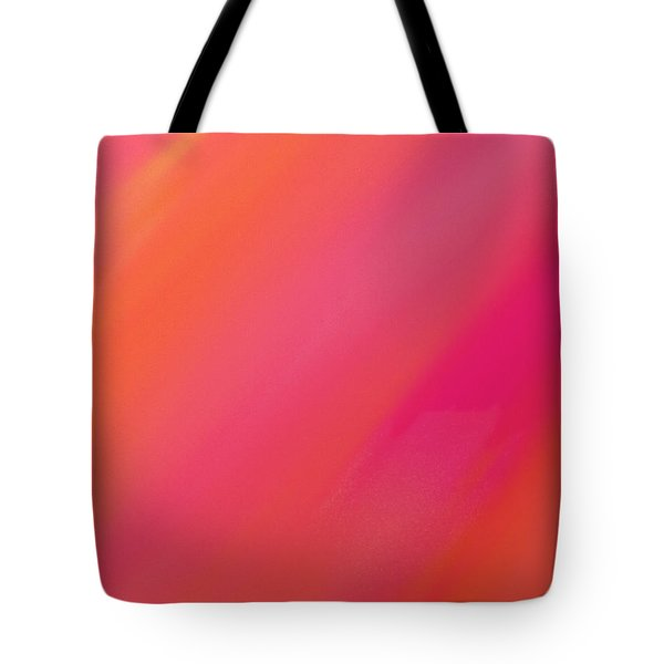 Orange And Raspberry Sorbet Abstract 1 Tote Bag by Andee Design