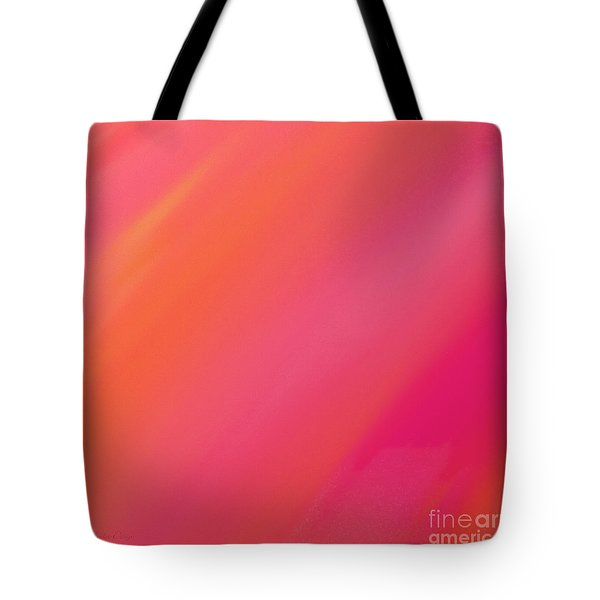 Orange And Raspberry Sorbet Abstract 2 Tote Bag by Andee Design
