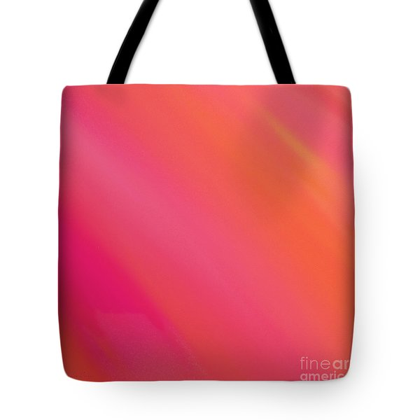 Orange And Raspberry Sorbet Abstract 3 Tote Bag by Andee Design