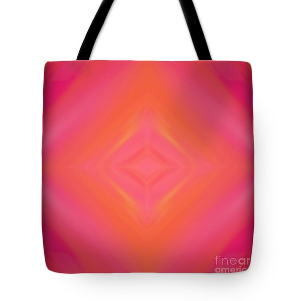 Orange And Raspberry Sorbet Abstract 4 Tote Bag by Andee Design