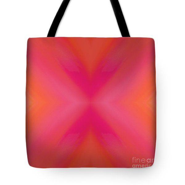 Orange And Raspberry Sorbet Abstract 6 Tote Bag by Andee Design