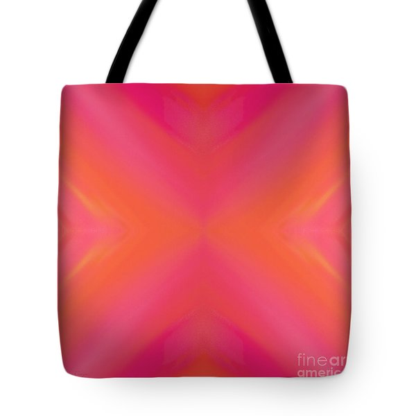 Orange And Raspberry Sorbet Abstract 8 Tote Bag by Andee Design